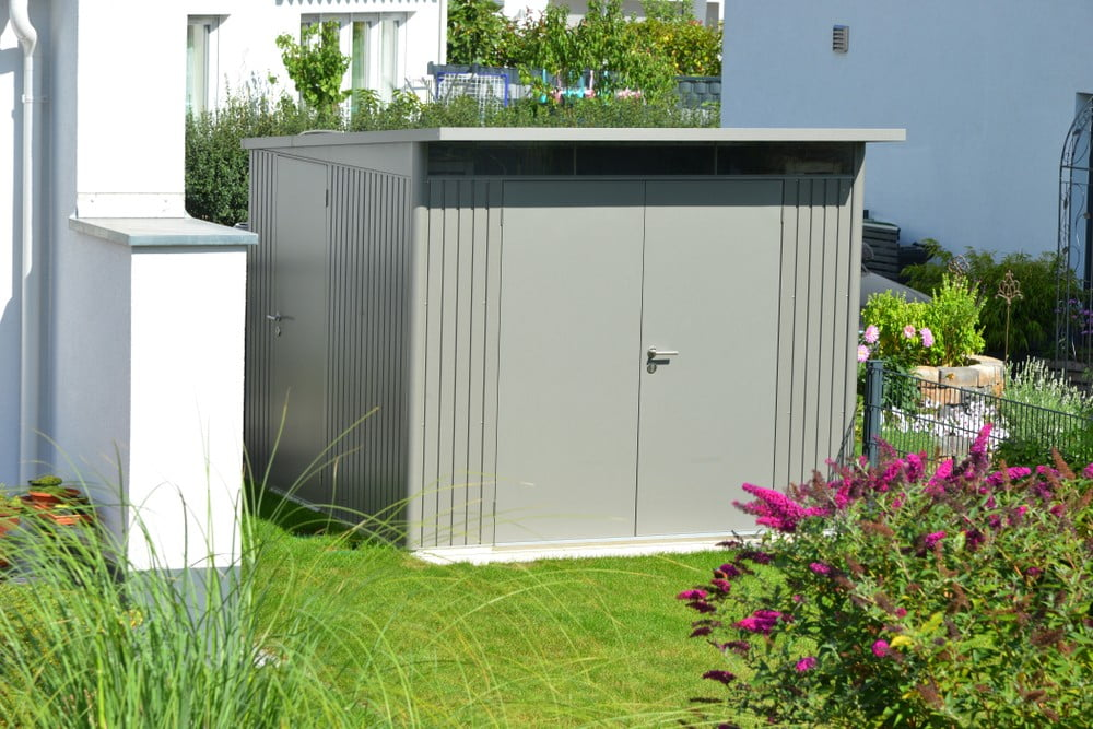 Metal Sheds Garden Storage Steel Buildings All-Round Acrylic Skylight Ventilation Easy Assembly - SM Garden Sheds