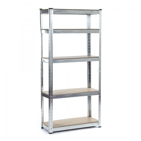 Galvanised Steel 5 Tier Storage Shelving Unit 70cm x 30cm Unit