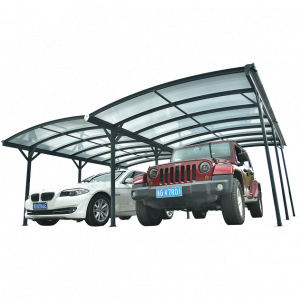 Kingston 20x16 Aluminium Dual Curved Carport