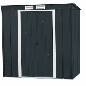 Sapphire 6x4 Pent Metal Shed - Anthracite