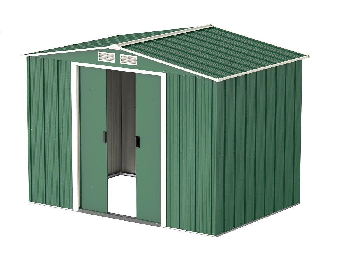 Store More Sapphire 6x6 Metal Garden Shed Green Outdoor Storage Diy Tools